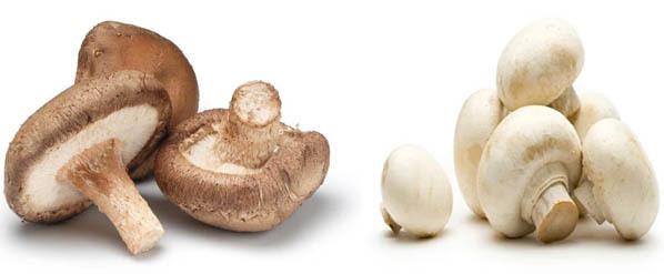 Button and Shiitake Mushrooms